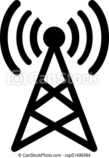 Antenna Signal Sign Vector And Isolated White Backgroundsymbol Of