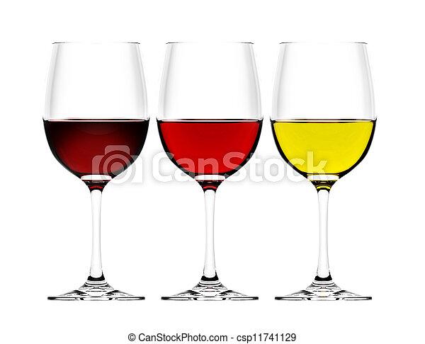 anteojos, vino - csp11741129