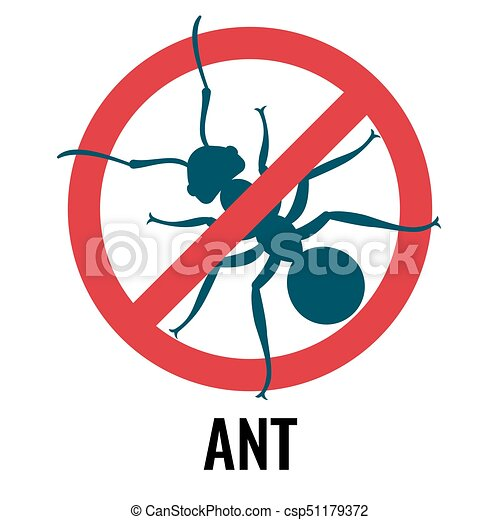 anti ant emblem with bug placed in circle vector illustration anti rh canstockphoto com