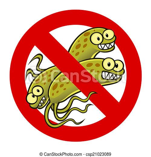 anti bacterium sign - csp21023089