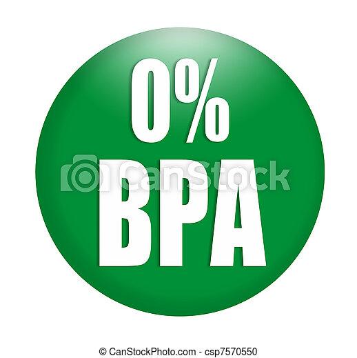 anti bisphenol A (BPA) sign logo - csp7570550