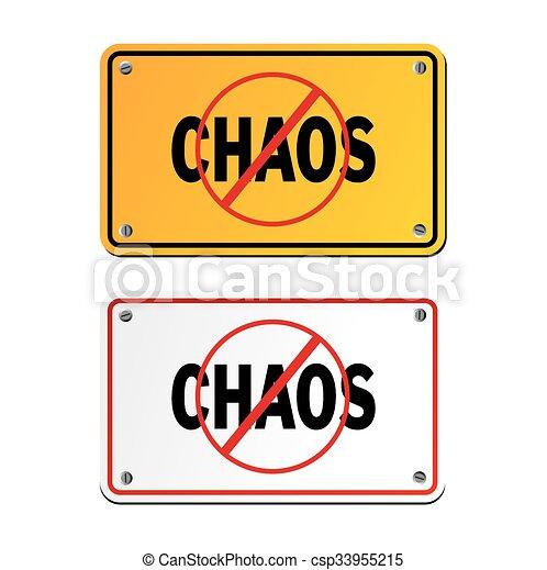 anti chaos signs - csp33955215