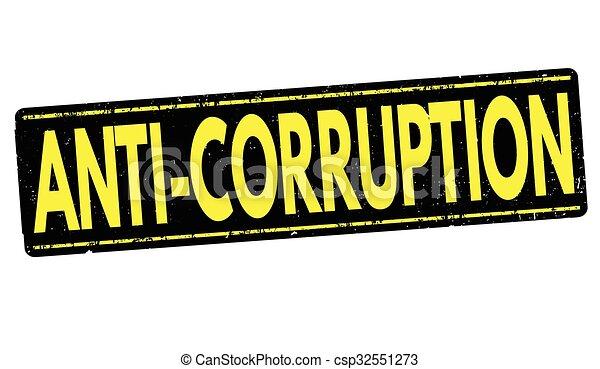 Anti-corruption grunge stamp - csp32551273