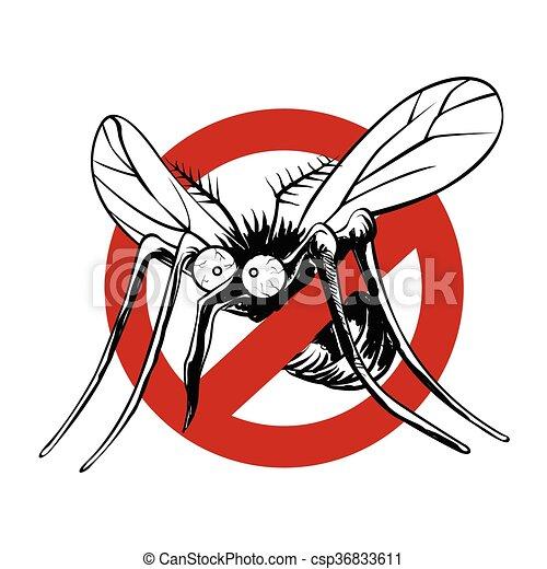 Anti mosquito sign  - csp36833611