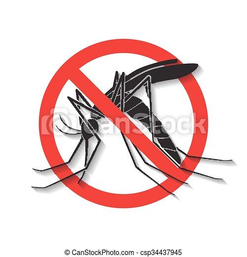 Anti mosquito vector,sign - csp34437945