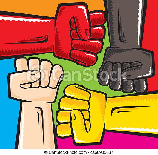 anti, racismo - csp6905637