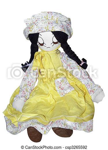 anticaglia, bambola pezza - csp3265592