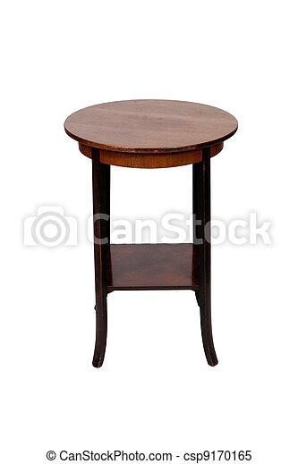 anticaglia, legno, isolato, fondo, tavola, bianco, rotondo - csp9170165