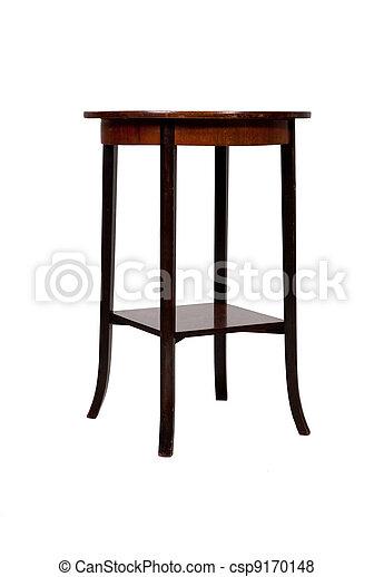 anticaglia, legno, isolato, fondo, tavola, bianco, rotondo - csp9170148