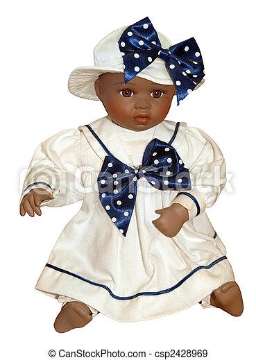 anticaglia, nero, bambola - csp2428969