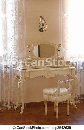 anticaglia, tavola, abbigliamento, specchio - csp3542639