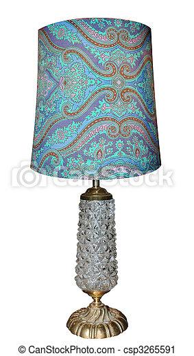 anticaglia, vetro, lampada, base - csp3265591