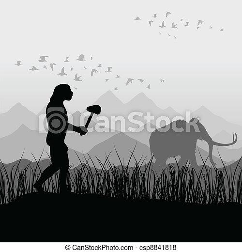 antico, cacciatore - csp8841818