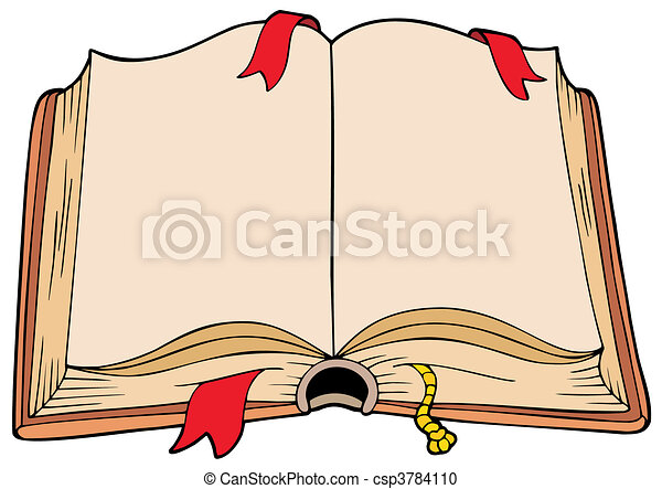 antico, libro, aperto - csp3784110