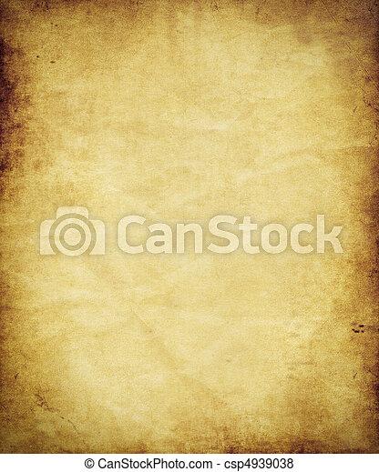 antiek oude, perkament, papier - csp4939038