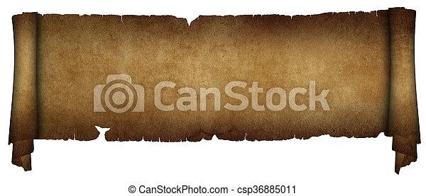 antieke , achtergrond., witte , boekrol, perkament - csp36885011