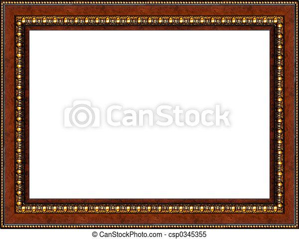 antieke , afbeelding, van hout vensterraam, vrijstaand, rustiek - csp0345355