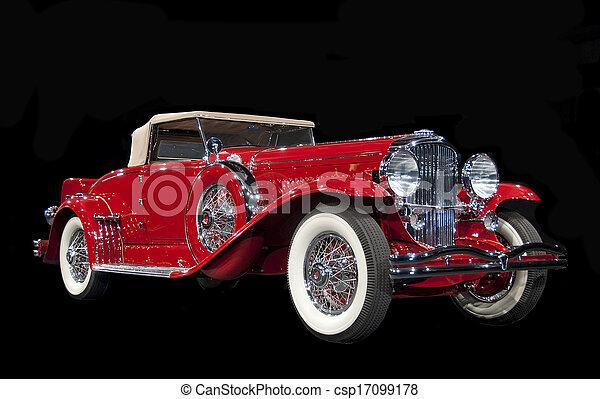 antieke auto, classieke - csp17099178