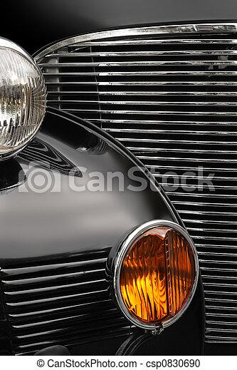 antieke auto, grill - csp0830690