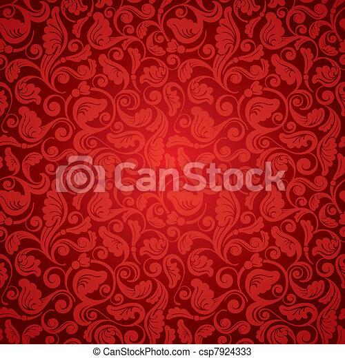 antieke , behang, seamless - csp7924333