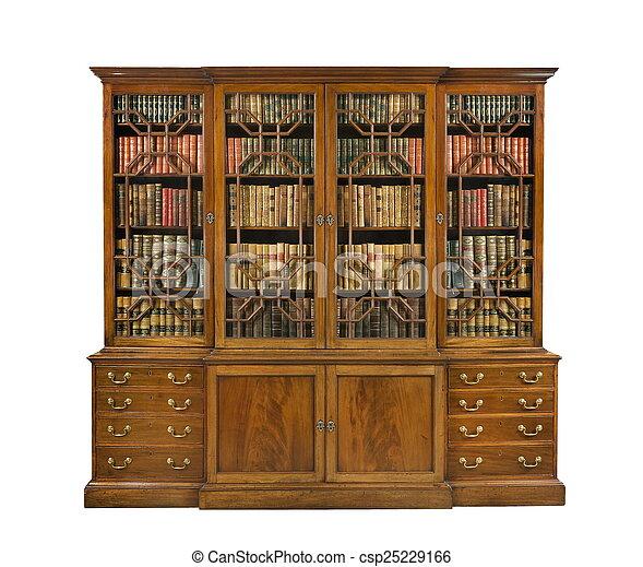 Antieke , boekenkast, oude boeken, engelse . Antiek oude ...