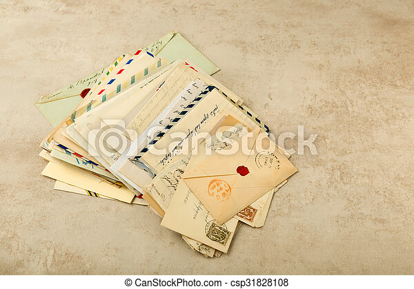 antieke , brieven - csp31828108