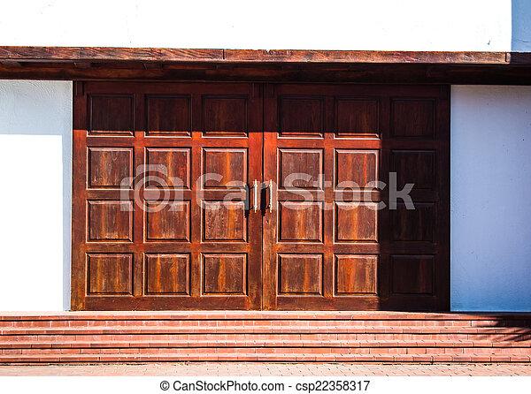 antieke , deur - csp22358317