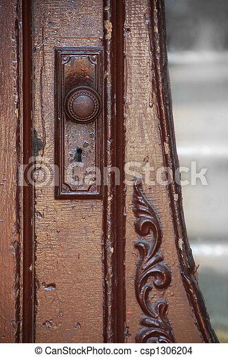antieke , deur - csp1306204