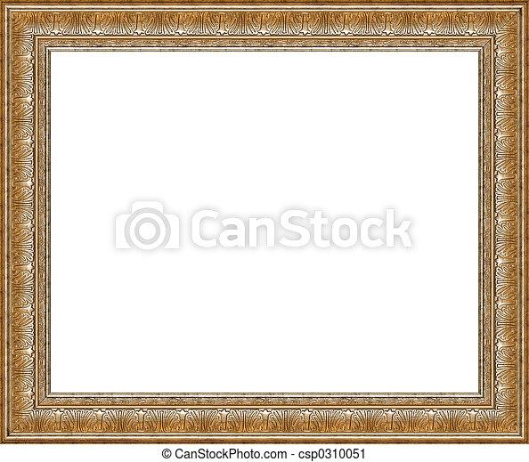 antieke , fotolijst, vrijstaand, rustiek, zilver - csp0310051