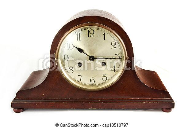Wonderlijk Antieke , houten, witte , klok. Antieke , houten, witte OE-72