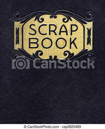 antieke , langer, copyright), (no, plakboek, onder, circa, 1890 - csp0820469