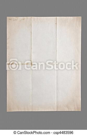 antieke , papier - csp4483596