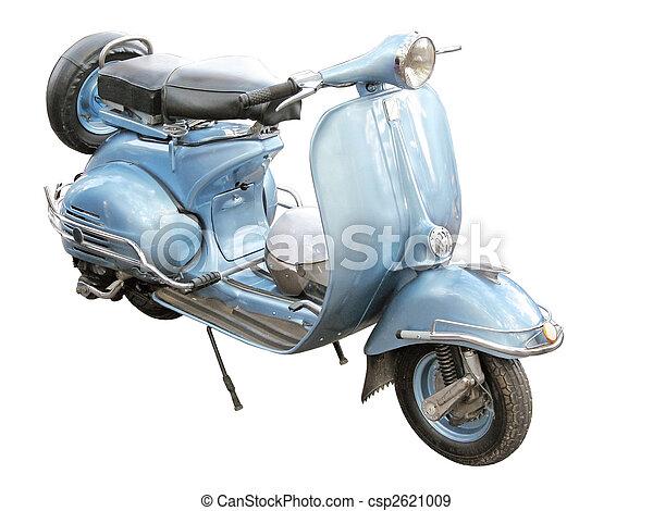 antieke , scooter - csp2621009