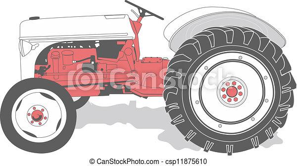 antieke , tractor - csp11875610