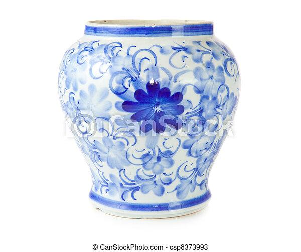 antigüedad, chino, florero - csp8373993