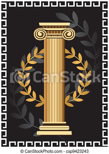 Columna iónica antigua - csp9423243