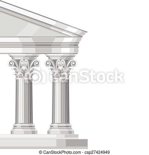 Un templo griego antiguo corintio y realista con columnas - csp27424949