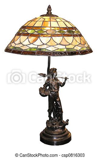 Una lámpara de mesa antigua - csp0816303