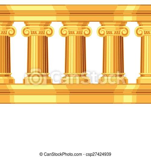 Patrón sin costura con colonnade griega antigua iónica - csp27424939