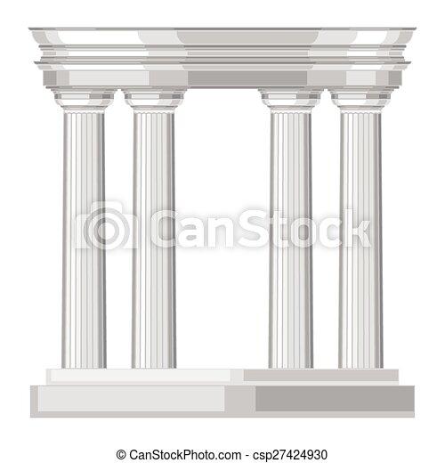 Un templo griego realista con columnas - csp27424930