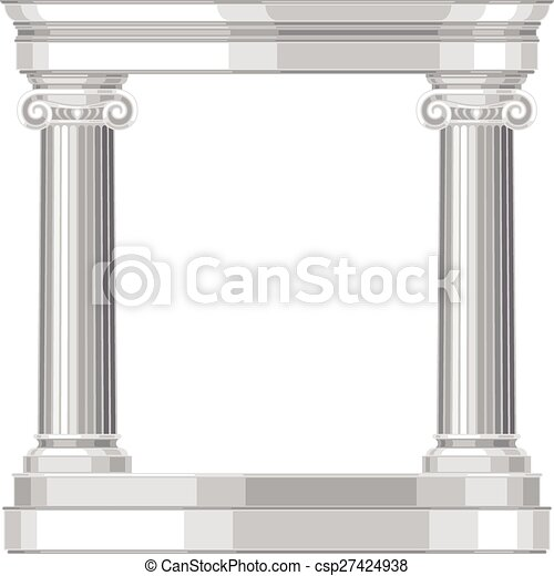 Un templo griego irónico y realista con columnas - csp27424938