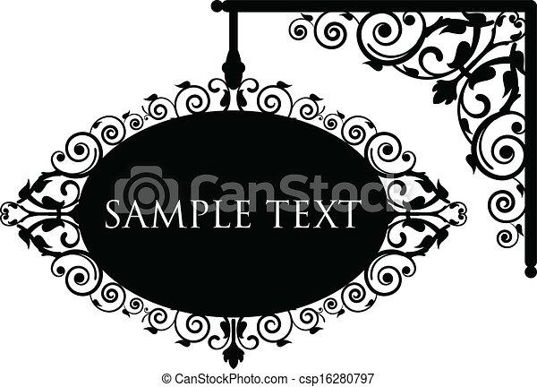 antigüedad, signboard - csp16280797