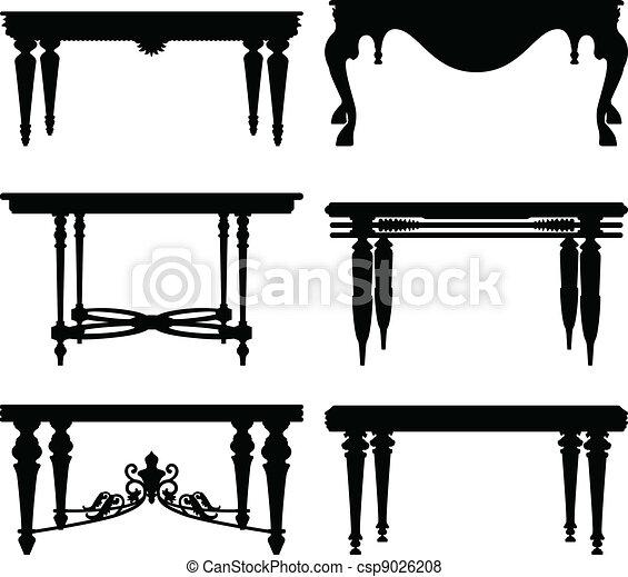 Una antigua mesa clásica - csp9026208