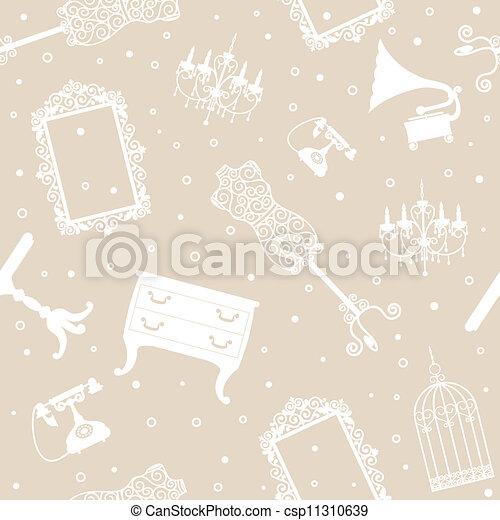 antigüidade, fundo, mobília - csp11310639