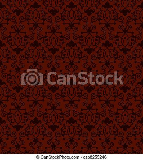 antigüidade, padrão, telha, seamless - csp8255246