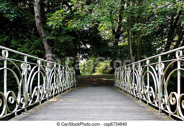 antigüidade, ponte, parque - csp6734840