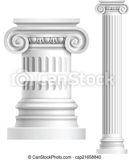 antigüidade, realístico, branca, coluna - csp21658840