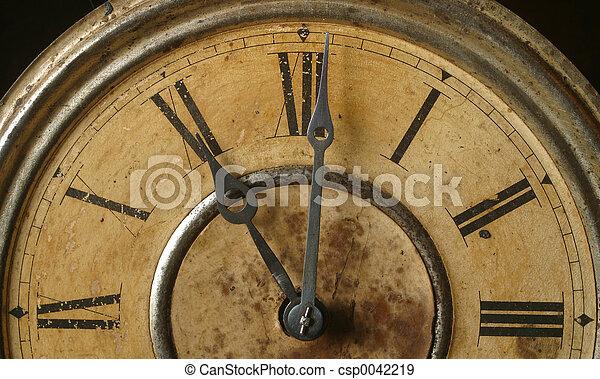 antigüidade, relógio - csp0042219