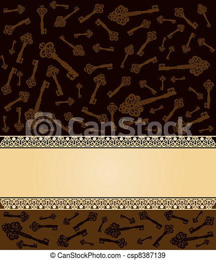 antigüidade, vindima, tecla, tapeçaria - csp8387139