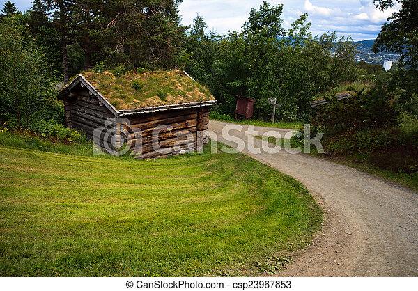 Antiga antigas campo casa madeira hist rico noruega paisagem bonito antiga antigas - Casas de campo en elche de bancos ...